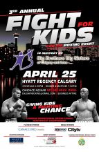 Poster: 3rd Annual Fight for Kids