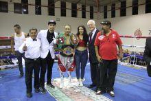C.P.B.C. International Superfly weigh Champion Luis Bedolla Orozco