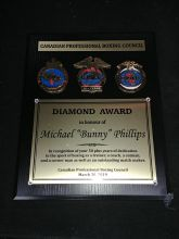 Diamond Award in honour of Michael 'Bunny' Phillips